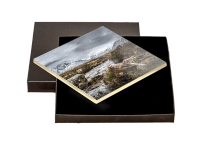 Glen Coe beside River Coe. Boxed Tile JK_09_BXTILE